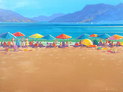 Painting - Summer Beach by Larry Hunter