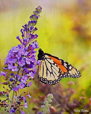 Painting - Summer Beauty - Monarch Butterfly by Kerri Farley