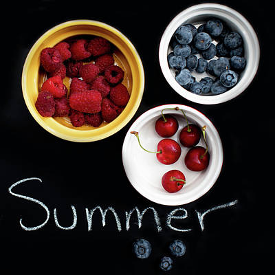 Photograph - Summer Berries by Rebecca Cozart