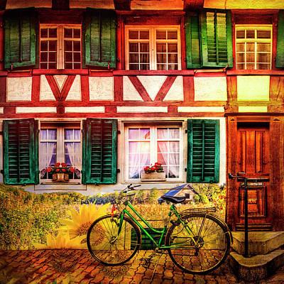 Photograph - Summer Bicycle by Debra and Dave Vanderlaan