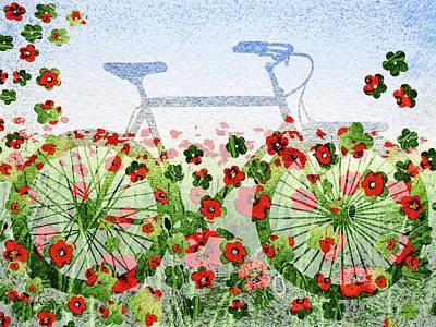 Painting - Summer Bicycle by Irina Sztukowski
