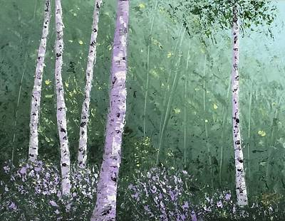 Painting - Summer Birch Trees by Brenda Bonfield