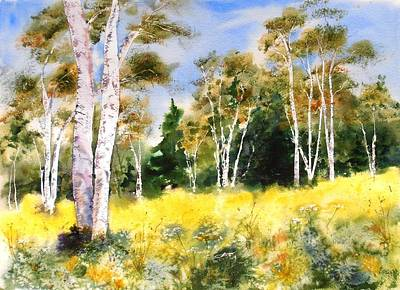 Painting - Summer Birches by Diane Kirk