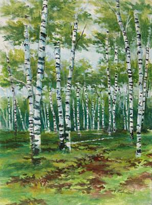 Painting - Summer Birches by Kerry Kupferschmidt