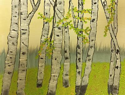 Painting - Summer Birches by Paula Brown