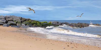 Photograph - Summer Bliss - Coastal Panoramic by Gill Billington