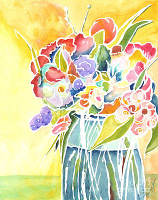 Painting - Summer Blooms by Carolyn Weir