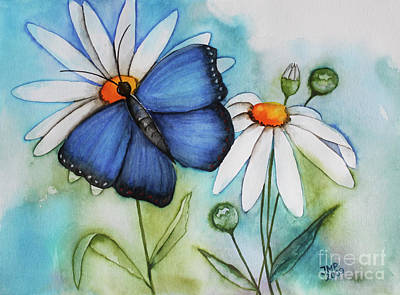 Marguerites Painting - Summer Blue by Jutta Maria Pusl