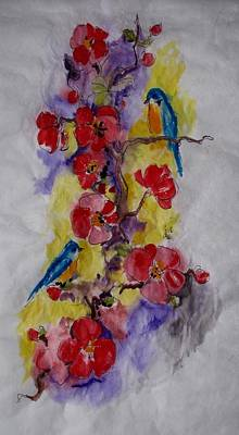Painting - Summer Bluebirds by Melanie Stanton