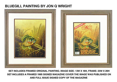 Fishing Painting - Summer Bluegill by Jon Q Wright