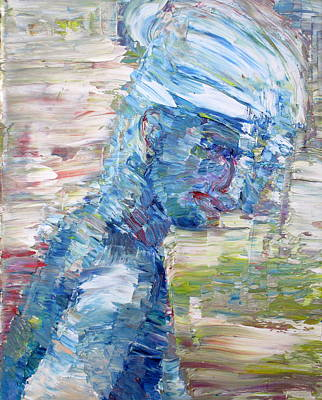 Painting - Summer Blues Girl by Fabrizio Cassetta