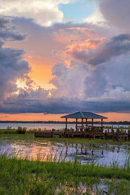 Photograph - Summer Boathouse by Debra and Dave Vanderlaan