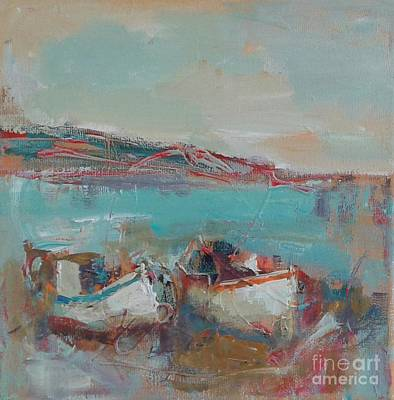 Painting - Summer Boats by Angelina Nedin