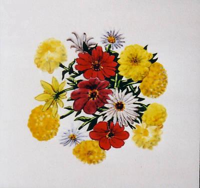 Summer Bouquet Art Print by Dy Witt
