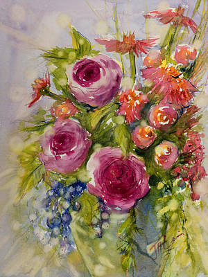 Painting - Summer Bouquet by Judith Levins