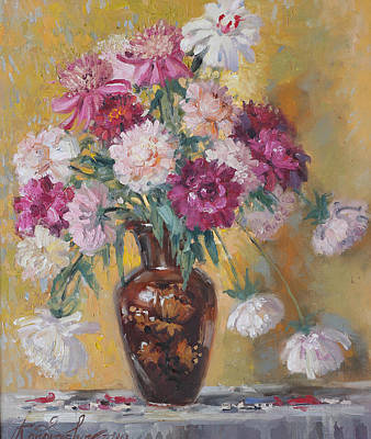 Painting - Summer Bouquet Of Peonies by Ilya Kondrashov