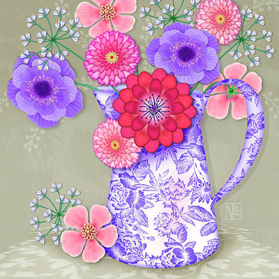 Digital Art - Summer Bouquet by Valerie Drake Lesiak