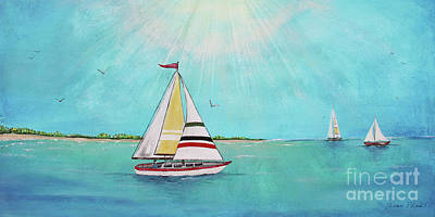 Print featuring the painting Summer Breeze-b by Jean Plout
