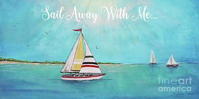 Print featuring the painting Summer Breeze-c by Jean Plout
