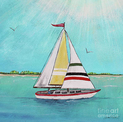 Print featuring the painting Summer Breeze-d by Jean Plout