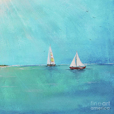 Print featuring the painting Summer Breeze-e by Jean Plout