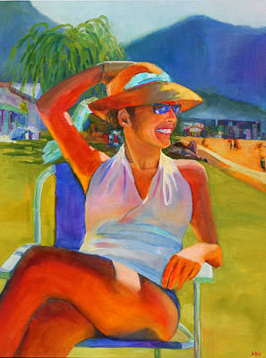 Folding Chair Painting - Summer Breeze by Sue  Darius