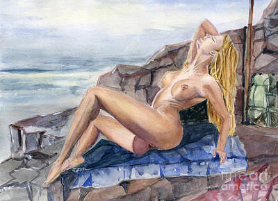 Sexual Human Nature Painting - Summer Breeze by Zoei Fine Art