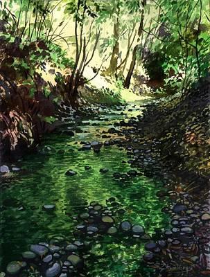 Summer Brook Art Print