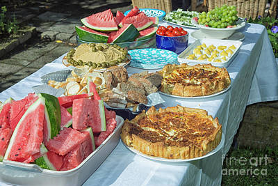Photograph - Summer Buffet In Garden by Patricia Hofmeester