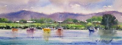 Oberst Painting - Summer By The Water by Jim Oberst