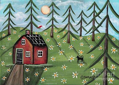 Summer Cabin Art Print