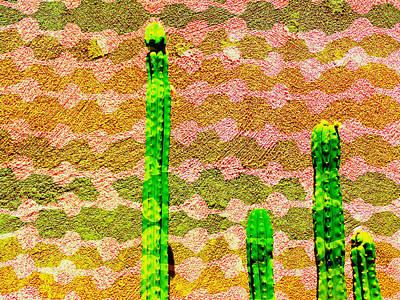 Mixed Media - Summer Cacti by Michelle Dallocchio