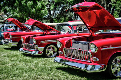 Photograph - Summer Car Show Classic Red by Ann Powell