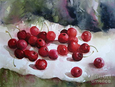 Painting - Summer Cherries 2 by Elena Oleniuc
