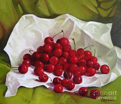Painting - Summer Cherries by Elena Oleniuc