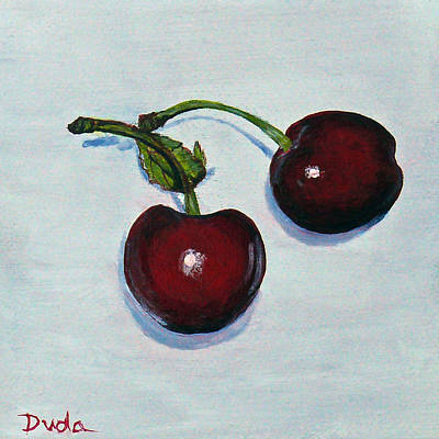 Painting - Summer Cherries by Susan Duda