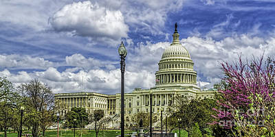 Photograph - Summer Clouds At The Capitol by Nick Zelinsky