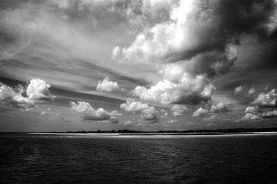 Photograph - Summer Clouds In Back And White by Greg Mimbs