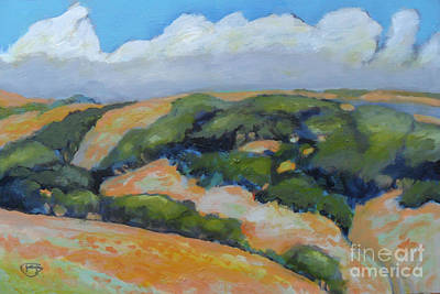 Carmel Valley Painting - Summer Clouds Over Foothills by Kip Decker