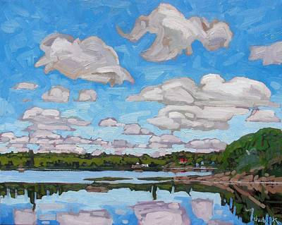 Canadian Painting - Summer Clouds by Phil Chadwick