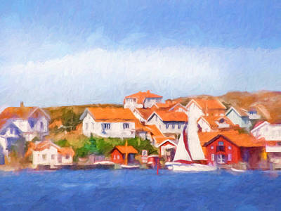 Summer Coast Art Print by Lutz Baar