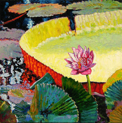 Summer Colors On The Pond Art Print by John Lautermilch
