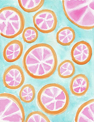 Grapefruit Wall Art - Painting - Summer Colors by Tate MacDowell