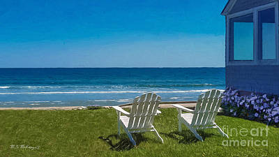Maine Spring Painting - Summer Comes To Higgins Beach by M S McKenzie