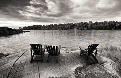 Photograph - Summer Cottage Chairs by Charline Xia