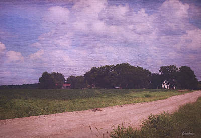 Photograph - Summer Countryside Road And Farm by Anna Louise