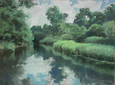 Painting - Summer Creek by Sergey Zhiboedov