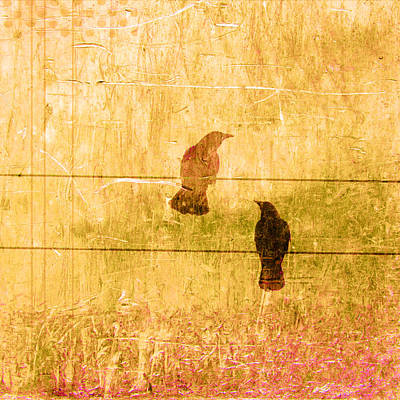 Raven Digital Art - Summer Crows by Carol Leigh