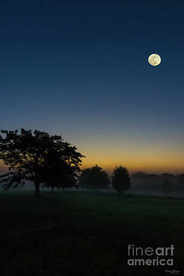 Photograph - Summer Dawn With Moon by Jennifer White