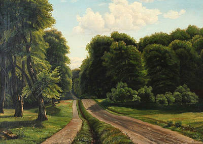 Painting - Summer Day At A Forest Road by Vilhelm Groth